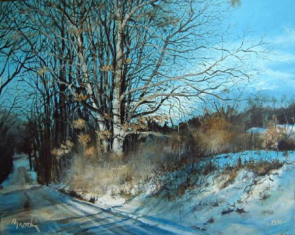 Landscape Art Print featuring the painting The Calling by William Brody