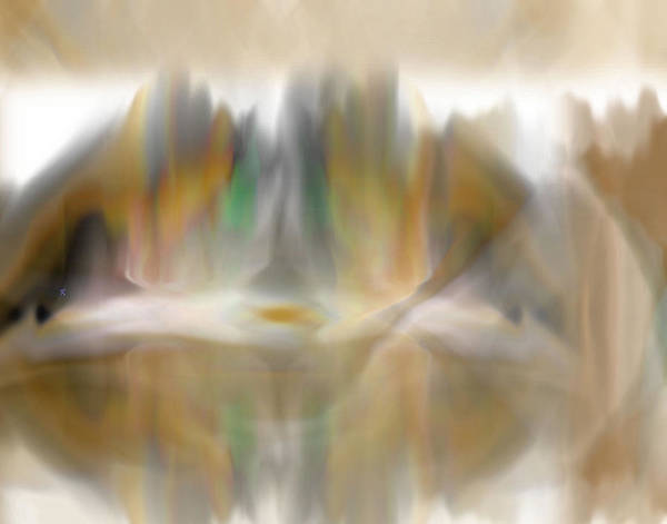 Abstract Art Print featuring the digital art The Mist by John Krakora