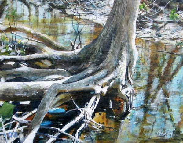 Landscape Art Print featuring the painting Uncovered by William Brody