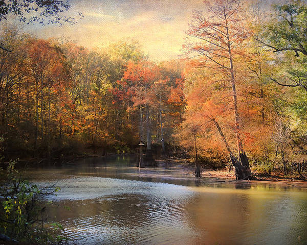 Autumn Print featuring the photograph After Daybreak by Jai Johnson