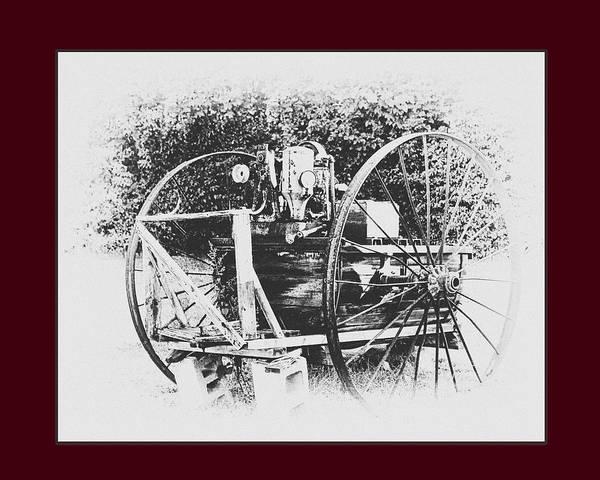 Landscape Art Print featuring the photograph Antique Farm Machine by Thomas Royer