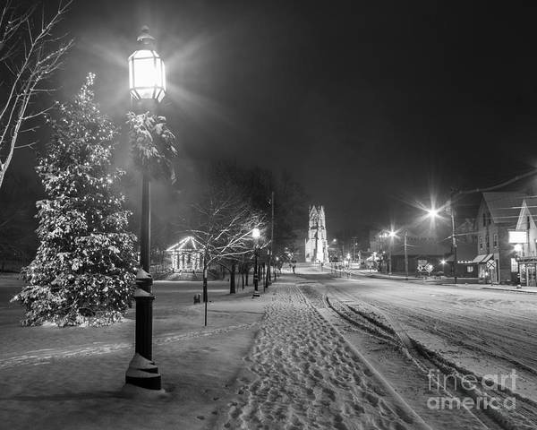 Black And White Art Print featuring the photograph Brunswick Maine by Benjamin Williamson