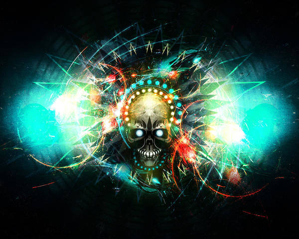 Skull Art Print featuring the digital art Deadstep -vip by George Smith