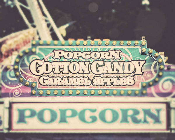 Popcorn Stand Art Print featuring the photograph Popcorn Stand Carnival Photograph From The Summer Fair by Lisa Russo