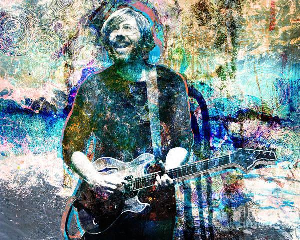 Rock N Roll Art Print featuring the painting Trey Anastasio - Phish Original Painting Print by Ryan Rock Artist