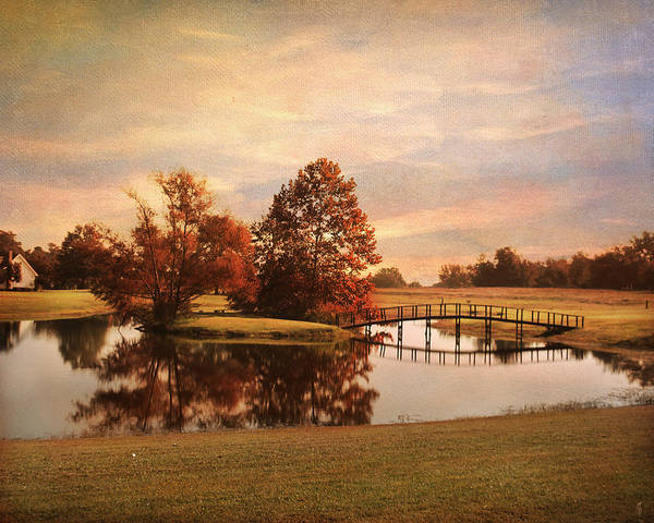 Autumn Art Print featuring the photograph Brian's Bridge by Jai Johnson