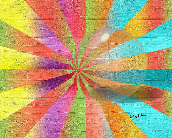 Abstract Art Print featuring the digital art Digital Art 2 by Anthony Caruso