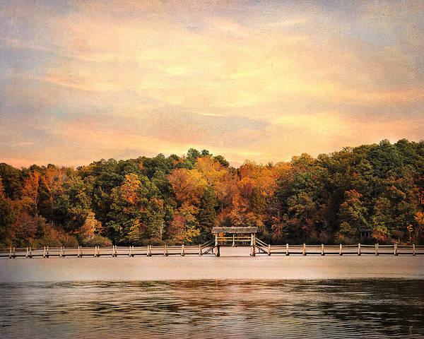 Autumn Art Print featuring the photograph The Bridge by Jai Johnson