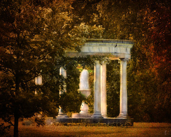 Autumn Art Print featuring the photograph Water Fountain by Jai Johnson