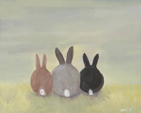 Bunny Art Print featuring the painting Bunrise by Kimberly Hodge