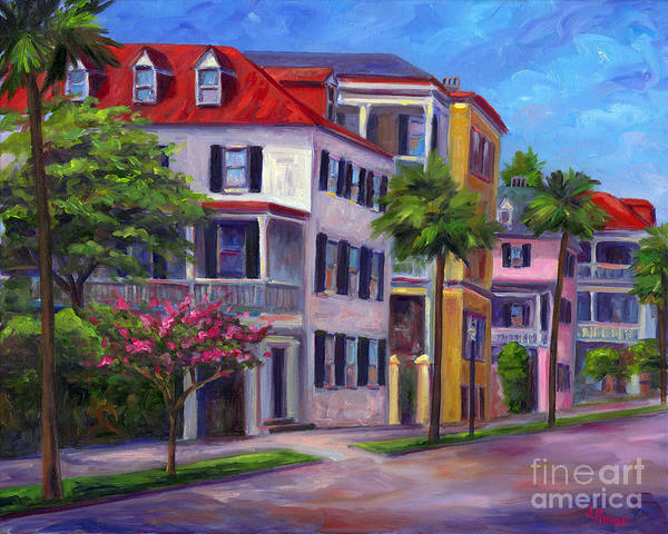 Charleston Art Print featuring the painting East Bay - Charleston by Jeff Pittman
