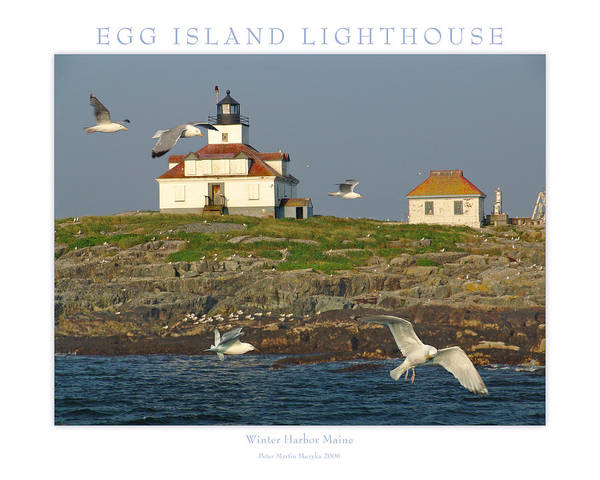 Landscape Art Print featuring the photograph Egg Rock Island Lighthouse by Peter Muzyka