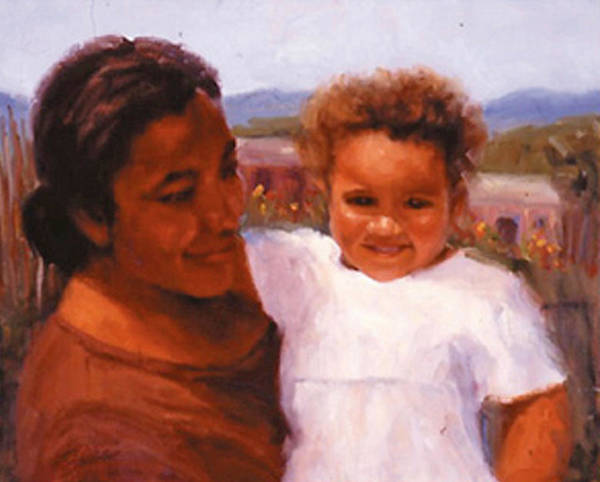 Mother Art Print featuring the painting Esperanza by Bunny Oliver