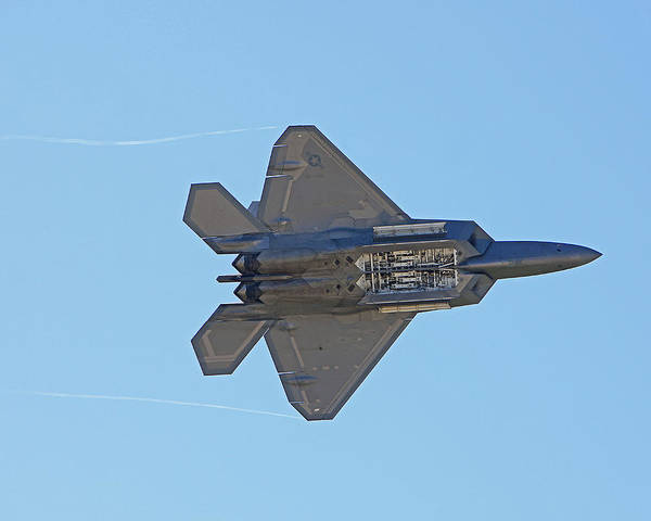 Planes Art Print featuring the photograph F22 Raptor Munitions Bays Open by Dave Clark