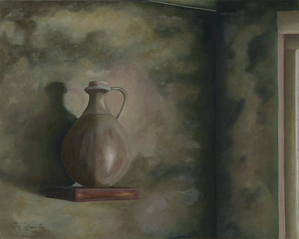 Still Life Art Print featuring the painting Lamp Oil by Ron Hamilton