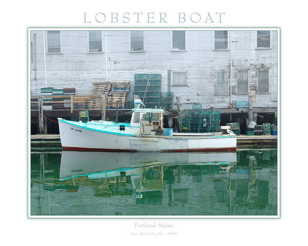 Landscape Art Print featuring the photograph Lobster Boat by Peter Muzyka