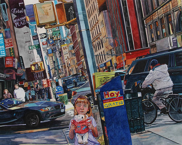 City Art Print featuring the painting Lost by Valerie Patterson