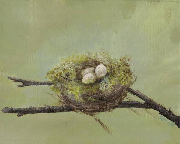 Birds Art Print featuring the painting Patience by Kimberly Hodge
