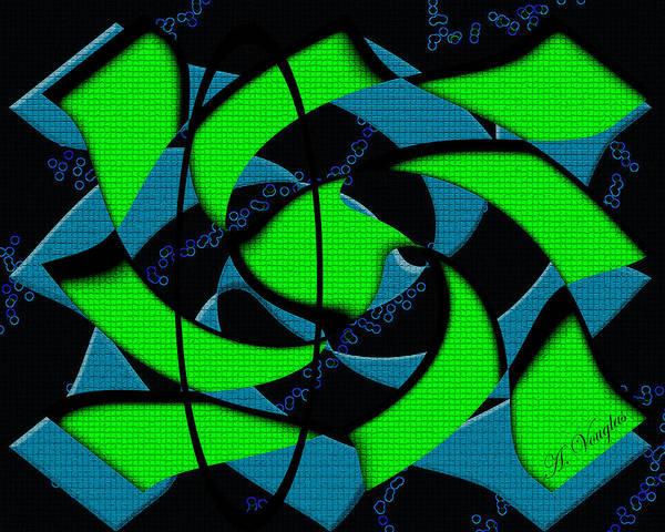 Sea Art Print featuring the digital art Sea Bubbles by Amanda Vouglas