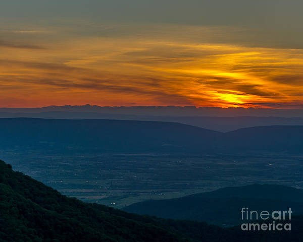 Landscape Art Print featuring the photograph Tequila Sunset by Blaine Blasdell