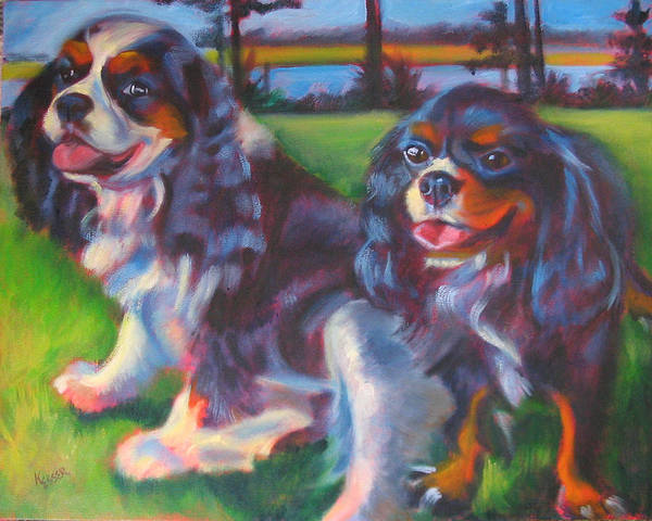 Cavalier Art Print featuring the painting Couple Of Hotties by Kaytee Esser