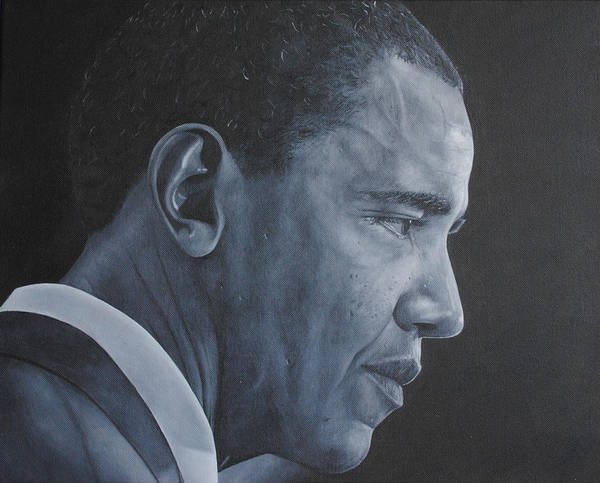 Barack Obama Art Print featuring the painting Barack Obama by David Dunne