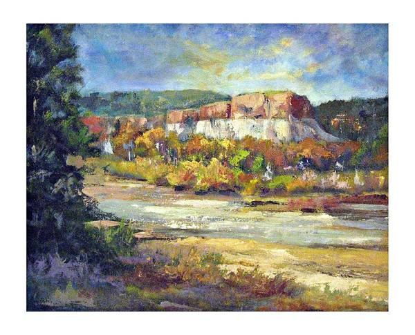 Landscape Art Print featuring the painting Painting In New Mexico by Jimmie Trotter