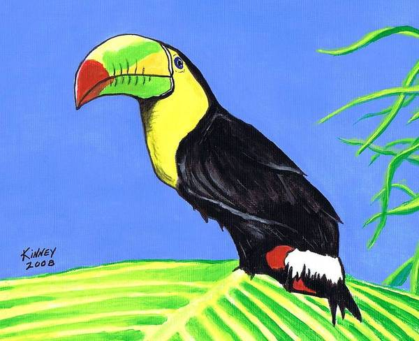 Birds Art Print featuring the painting Toucan Bird by Jay Kinney