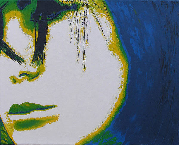Portrait Art Print featuring the painting Tragedy by Ricklene Wren
