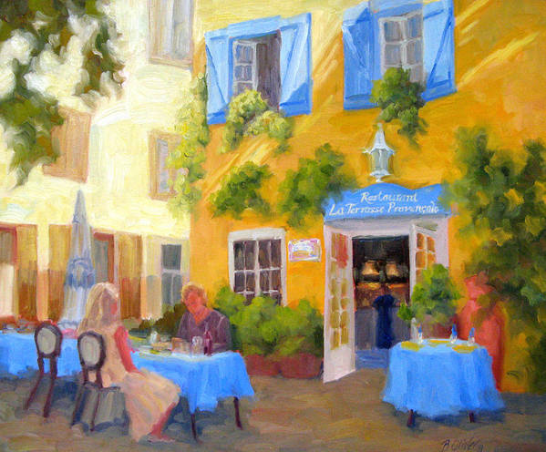 France Art Print featuring the painting A Loaf Of Bread A Jug Of Wine by Bunny Oliver