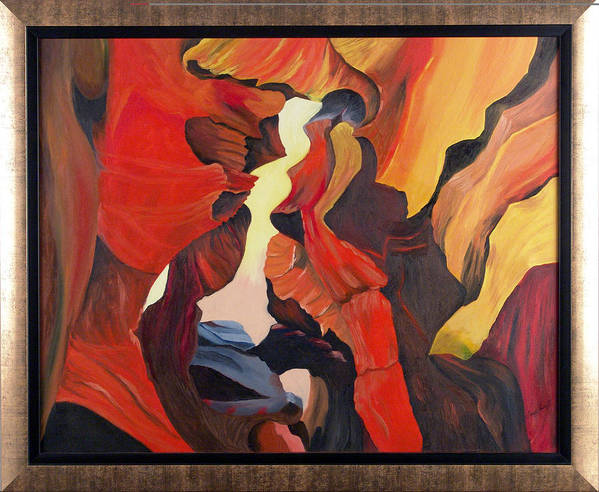Cave Art Print featuring the painting The Passage by Helene Lagoudakis