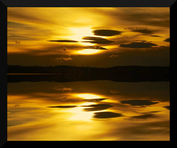 Sunset Art Print featuring the photograph Golden by Kevin Bone