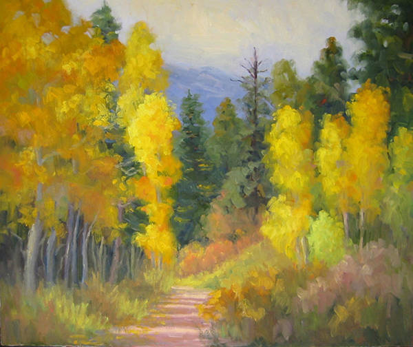 Autumn Art Print featuring the painting Autumn Ambience by Bunny Oliver