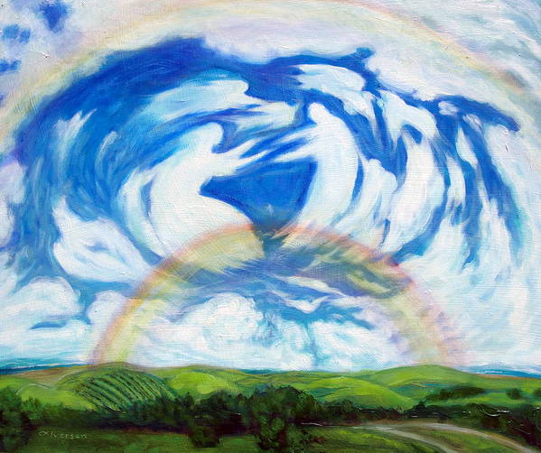 Heaven Art Print featuring the painting Coming Home by Jill Iversen