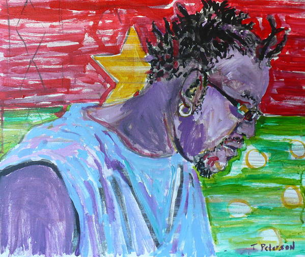 Acrylic Art Print featuring the painting Man From Burkina Faso by Todd Peterson