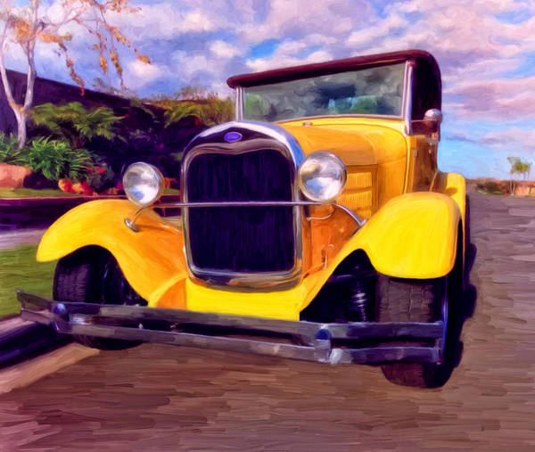Resto Mod Art Print featuring the painting '28 Ford Pick Up by Michael Pickett