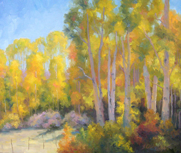 Autumn Art Print featuring the painting October Delight by Bunny Oliver