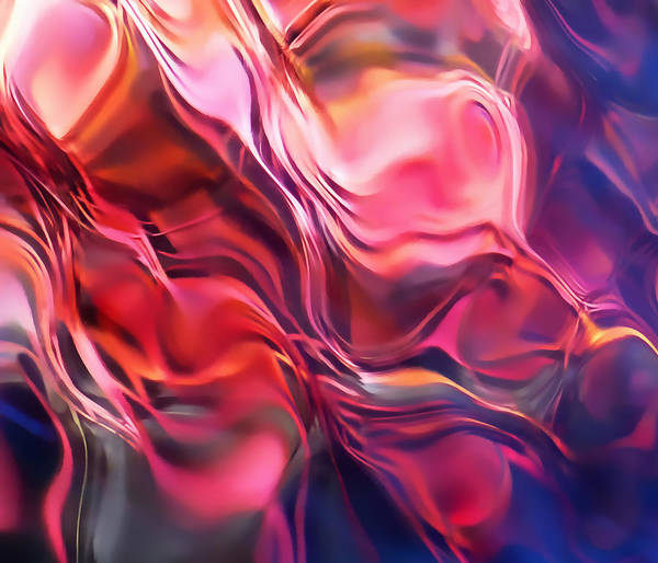 Refracted Light Print featuring the photograph Soft Streamlines by Terril Heilman