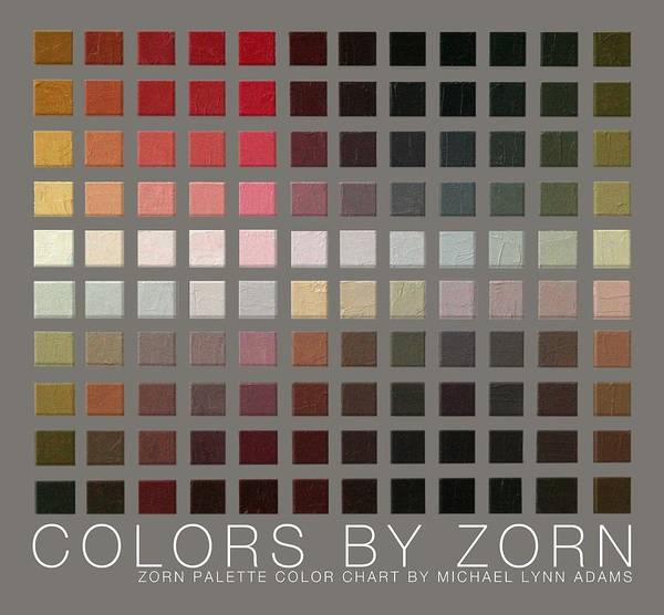 Art Print featuring the painting Colors By Zorn by Michael Lynn Adams