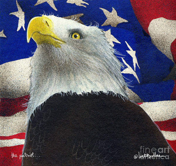 Will Bullas Art Print featuring the painting The Patriot... by Will Bullas