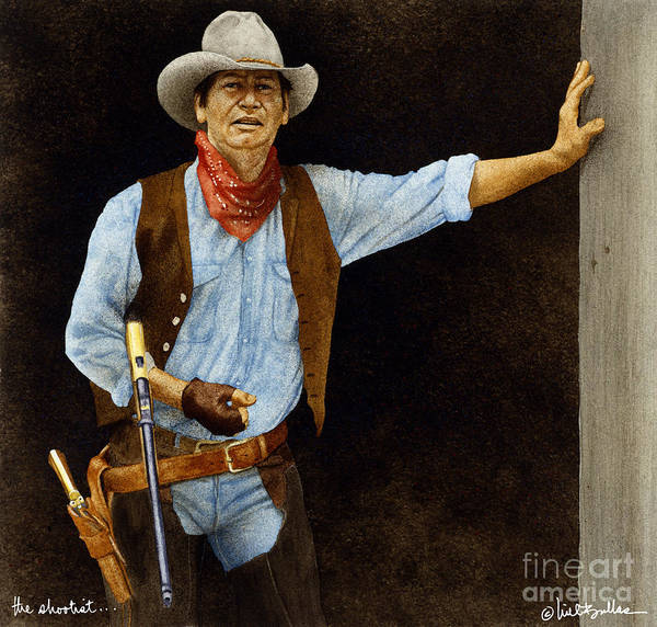 Will Bullas Art Print featuring the painting The Shootist... by Will Bullas