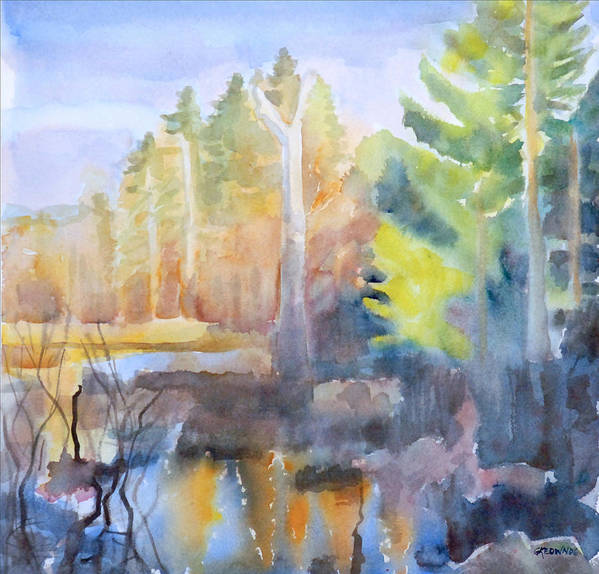 Maine Print featuring the painting Swamp Color by Grace Keown
