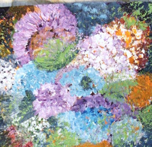 Flowers Art Print featuring the mixed media Floral Moments by Anne-Elizabeth Whiteway