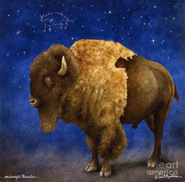 Will Bullas Art Print featuring the painting Midnight Thunder... by Will Bullas