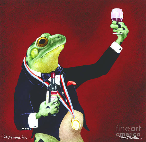 Will Bullas Art Print featuring the painting The Sommelier... by Will Bullas