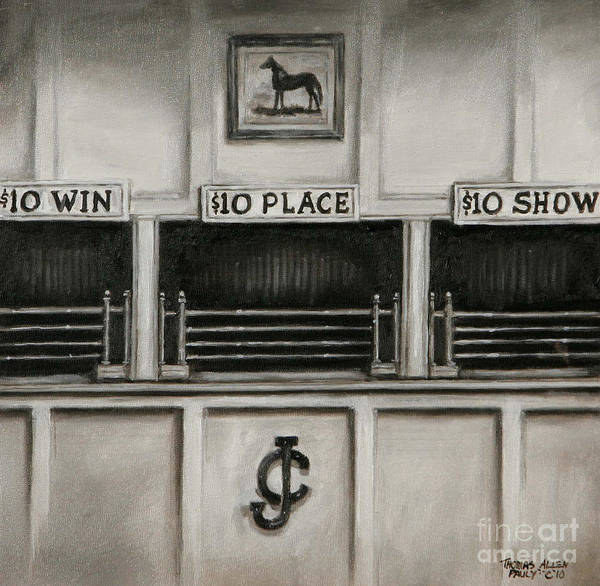 Derby Art Print featuring the painting 10 Across The Board by Thomas Allen Pauly