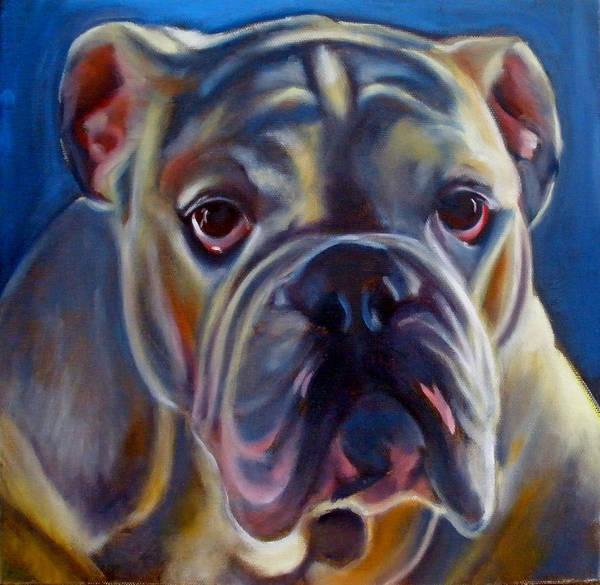 Bulldog Art Print featuring the painting Bulldog Expression 2 by Kaytee Esser