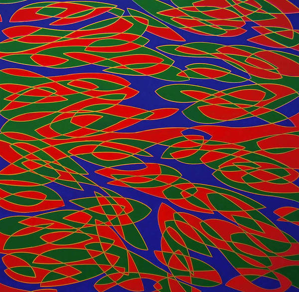 Abstract Art Print featuring the painting Ninfee by Graziano Peressini