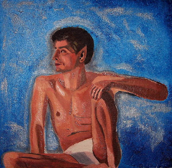Nude Art Print featuring the painting Vulcan by Michael Lewis