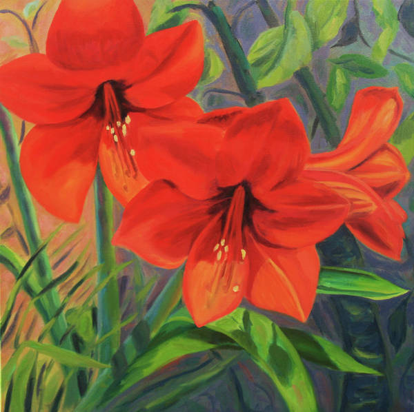 Hibiscus Art Print featuring the painting Hibiscus by Jane Simonson